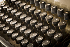 打字机 免版税图库摄影