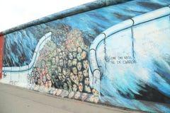 柏林围墙片段 库存图片