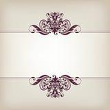 Вектор каллиграфии винтажной рамки границы декоративный богато украшенный Стоковая Фотография RF
