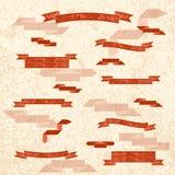 Собрание плоским лент текстурированных цветом Стоковое Изображение