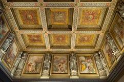 梵蒂冈博物馆天花板细节 库存图片