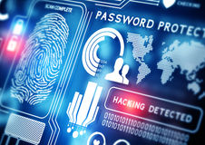 Онлайн технология безопасности Стоковая Фотография