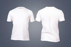 Άσπρο πρότυπο μπλουζών Στοκ Εικόνες