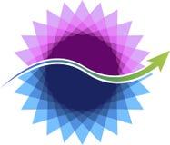 Стильный логотип цветка Стоковое Изображение