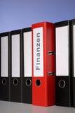 红色文件夹 免版税库存图片