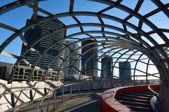 韦布桥梁-墨尔本 免版税库存照片
