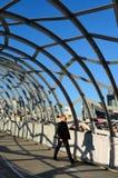 韦布桥梁-墨尔本 图库摄影