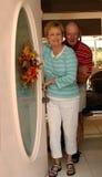 家庭欢迎 图库摄影