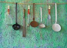 Винтажные утвари кухни Стоковое Изображение