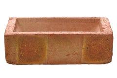 砖红色端 免版税库存照片