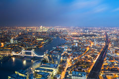 伦敦鸟瞰图  库存图片