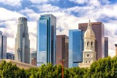 Городской район Лос-Анджелеса финансовый Стоковая Фотография RF