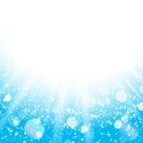 蓝色抽象圣诞节背景 免版税库存照片