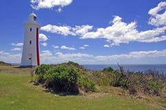 梅尔塞虚张声势灯塔在塔斯马尼亚岛,澳大利亚 图库摄影