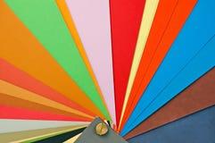颜色纸抽样人员 免版税库存照片