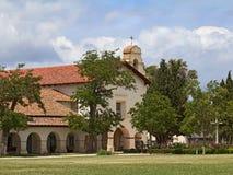 老使命圣胡安包蒂斯塔在圣胡安包蒂斯塔,加利福尼亚 库存图片