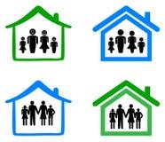 Семья и дом Стоковые Фото