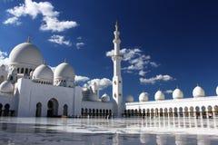 Грандиозная мечеть в Абу-Даби Стоковое Фото