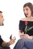 订婚愉快的惊奇 免版税库存照片