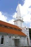 Εκκλησία με το κώνο ή το καμπαναριό Στοκ εικόνες με δικαίωμα ελεύθερης χρήσης