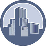 Городской круг зданий небоскреба Стоковое фото RF