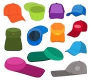 Χρωματισμένο πρότυπο σύνολο ΚΑΠ Στοκ Εικόνα