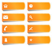 Ετικέτες ή κουμπιά για Διαδίκτυο Στοκ Εικόνες