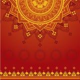 黄色和红色印地安背景 库存图片