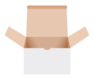 打开纸板箱 库存图片