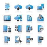 连接、通信和手机象 免版税库存照片