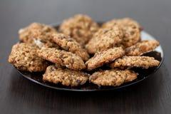 麦甜饼用葡萄干 免版税库存图片