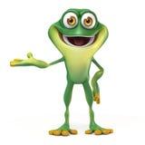青蛙欢迎姿势 图库摄影