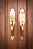 与钥匙的门把手 库存照片