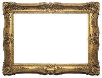 Изолированная антиквариатом картинная рамка Стоковые Фото