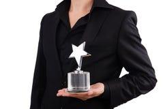 Бизнесмен с наградой звезды Стоковые Фотографии RF