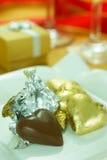 巧克力爱形状 库存照片