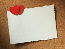 Κάρτα διακοπών με την καρδιά Στοκ Εικόνες