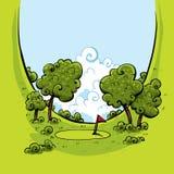 Долина гольфа зеленая Стоковая Фотография RF