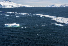 南极洲-风景和胡同冰 库存图片