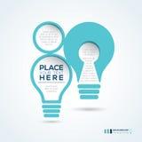 План дизайна конспекта формы электрической лампочки Стоковое Изображение