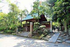 日本寺庙入口 库存图片