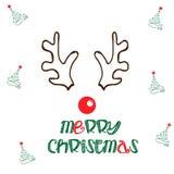 圣诞快乐驯鹿例证 免版税库存图片