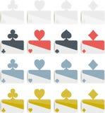 Επίπεδο σχέδιο συμβόλων πόκερ Στοκ Εικόνες