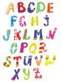 与手拉的样式的滑稽的字体- 库存照片