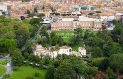 梵蒂冈庭院,罗马 鸟瞰图 库存照片