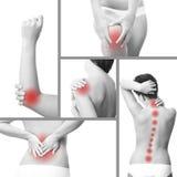 Боль в теле женщины Стоковые Изображения RF