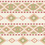 种族装饰纺织品无缝的样式 免版税图库摄影