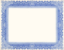 сертификат граници Стоковое Изображение RF