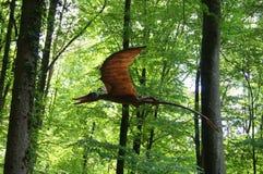 侏罗纪公园-飞行恐龙妖怪 免版税库存图片