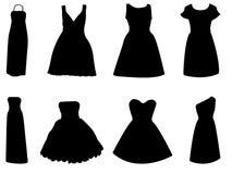 给穿衣的礼服查出的夹克白人妇女 免版税图库摄影